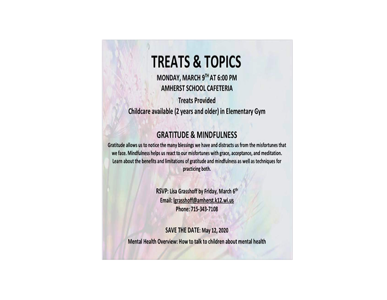 Treats and Topics Flyer